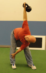 Dr. Marchese demonstrating the Kettlebell Windmill