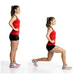 photo of woman doing a lunge
